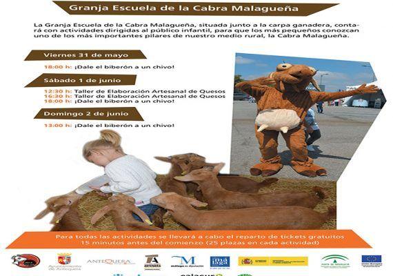 Actividades gratis para niños en Agrogant 2019, la feria agrícola y ganadera de Antequera