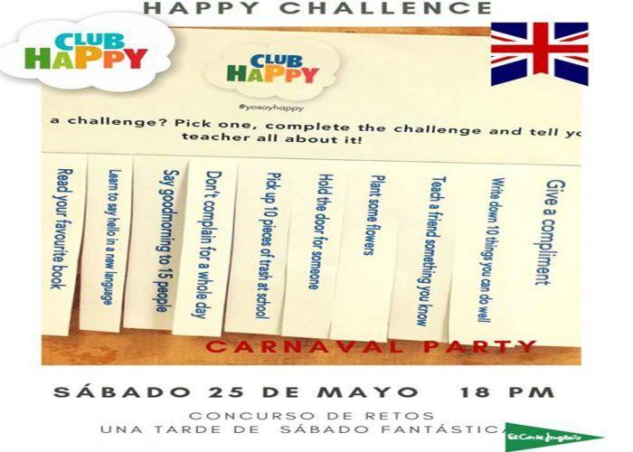 Concurso divertido en inglés para los peques con el Club Happy Málaga el 25 de mayo