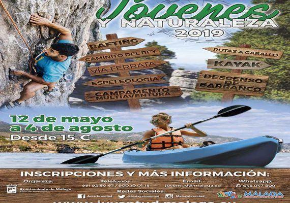 Jóvenes y Naturaleza organiza esta primavera y este verano en Málaga actividades al aire libre