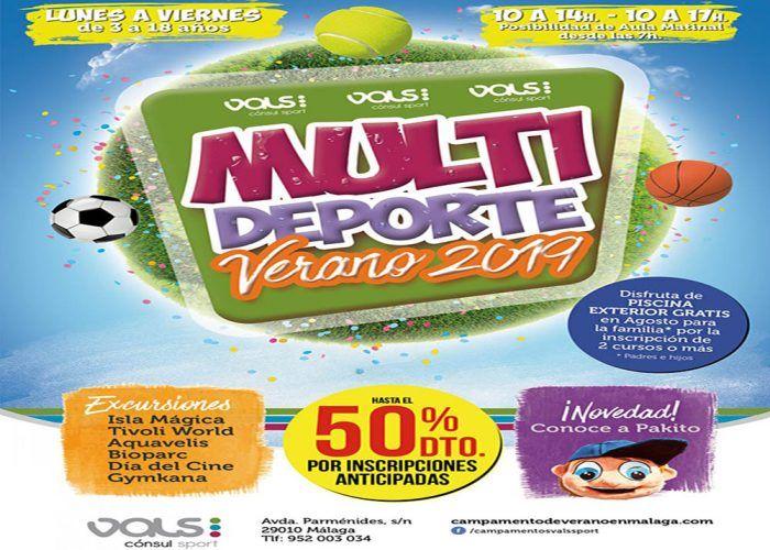 Campamento de verano deportivo para los peques en Vals Sport Cónsul (Málaga)