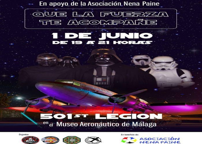 Desfile imperial de la legión 501 en el Museo Aeronáutico de Málaga el 1 de junio