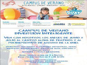 Campamento de verano con diversión inteligente para niños con Aloha Mental en Málaga y Benalmádena
