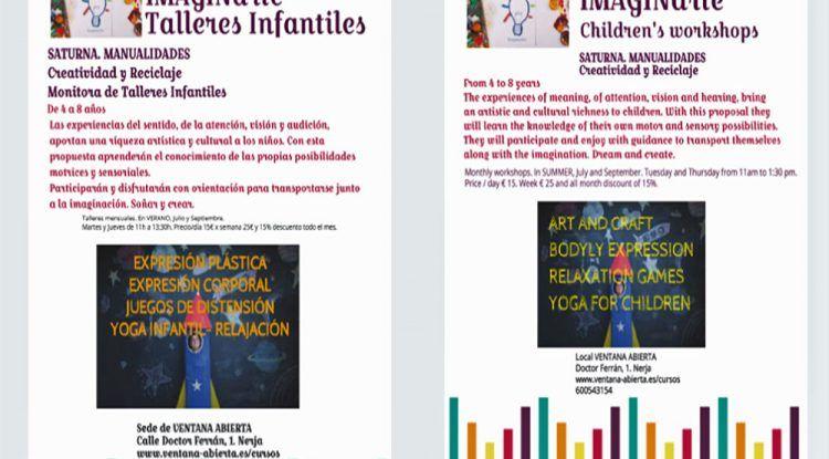 Talleres infantiles de verano sobre creatividad y reciclaje en Nerja