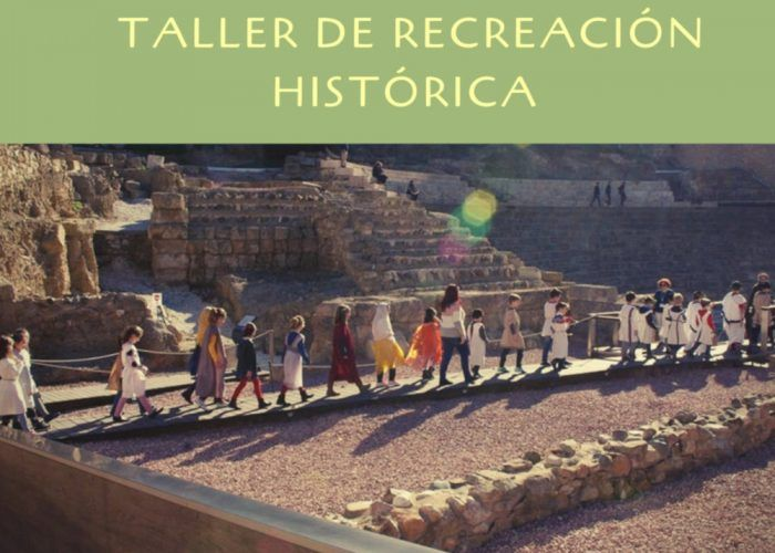 Recreación histórica en las visitas escolares de ArqueoRutas en Málaga: niños convertidos en antepasados