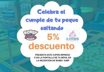 Descuento del 5% para el cumpleaños de tus hijos en las camas elásticas de Bobby Jump en Málaga