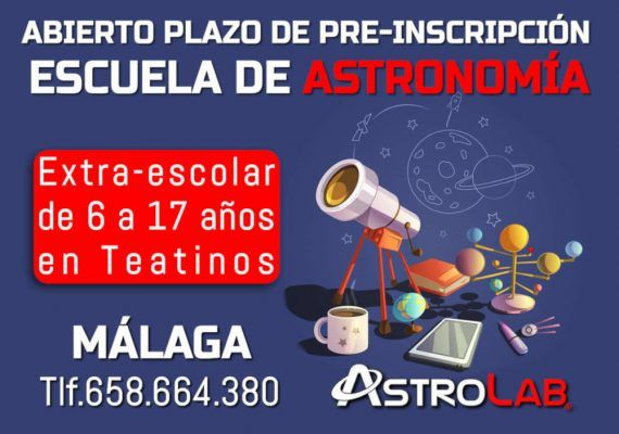 Escuela de astronomía para niños en Teatinos (Málaga) con AstroLab
