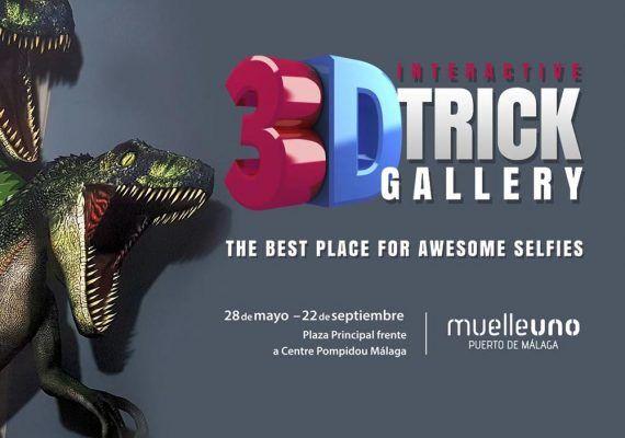 Exposición 3D en Muelle Uno Málaga
