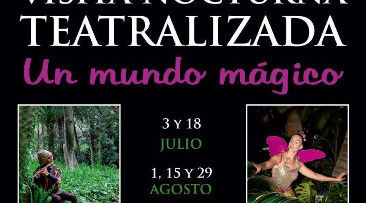Visitas nocturnas teatralizadas en el Jardín Botánico La Concepción de Málaga