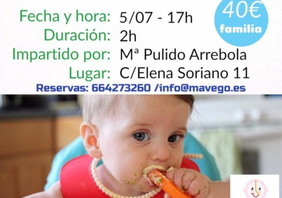 Taller para madres y padres sobre alimentación infantil BLW en Mavego (Málaga)