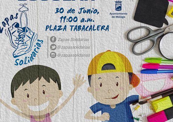 Recogida de material escolar de Zapas Solidarias