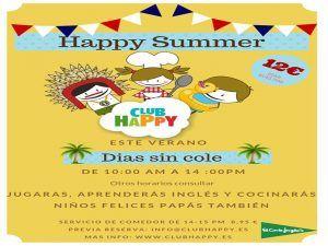 Campamento infantil de verano con juegos en inglés de la mano de Club Happy Málaga