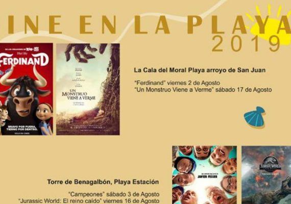 Cine de Verano 2019 gratis en Rincón de la Victoria para niños y adolescentes