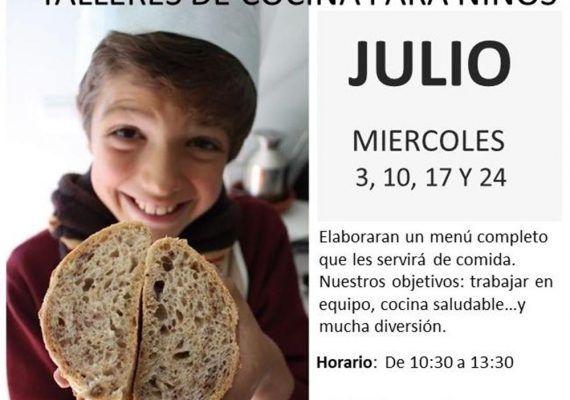 Talleres de cocina para niños y familia en julio