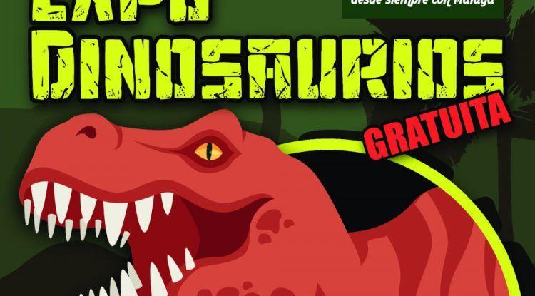 Exposición gratis de dinosaurios en el Centro Comercial Rosaleda de Málaga