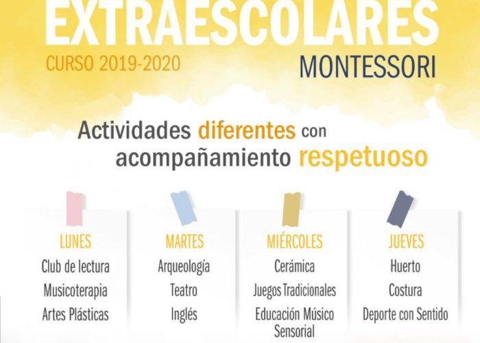 Extraescolares para niños y familias en el centro Montessori de Málaga