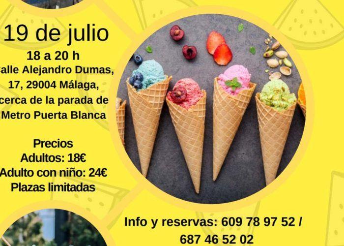 Taller de helados y refrescos saludables para toda la familia en Málaga