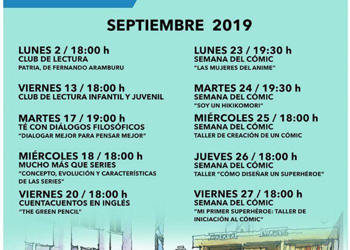 Actividades de septiembre gratis para niños en la Biblioteca Cánovas del Castillo