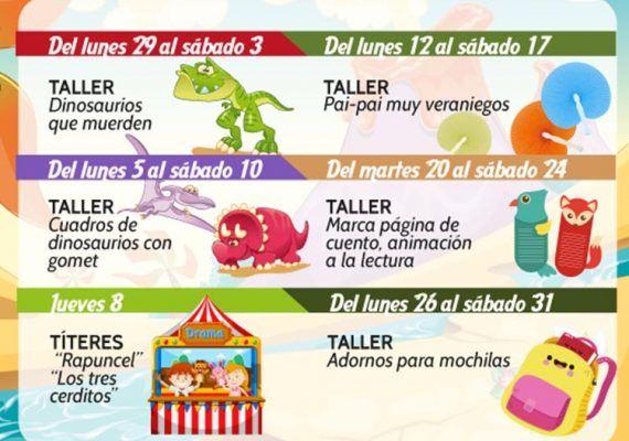 Actividades gratuitas de agosto en el Centro Comercial la Rosaleda