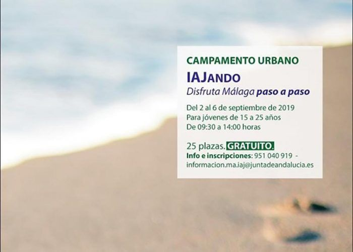 Campamento urbano gratis para jóvenes en septiembre en Málaga