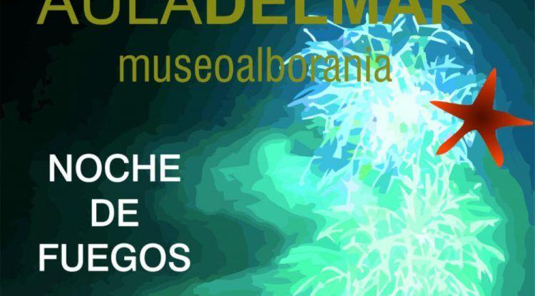 Fuegos artificiales de la Feria de Málaga con niños desde la terraza del Aula del Mar