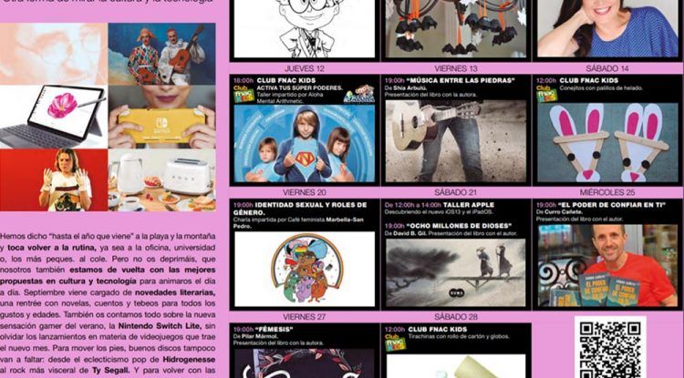 Talleres infantiles gratis con Fnac Marbella en septiembre