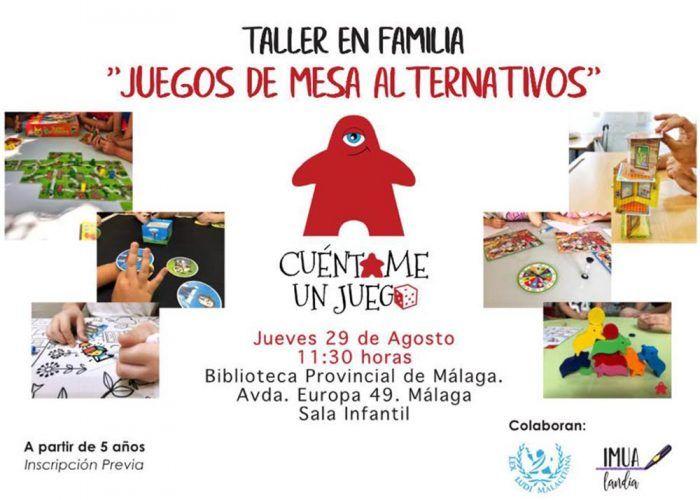 Taller familiar gratis de juegos de mesa en la Biblioteca Provincial de Málaga