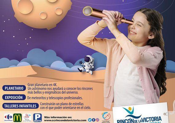 Actividades infantiles gratis sobre astronomía en el Centro Comercial Rincón de la Victoria