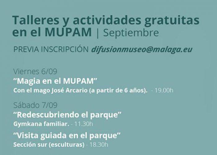Actividades gratis en el MUPAM