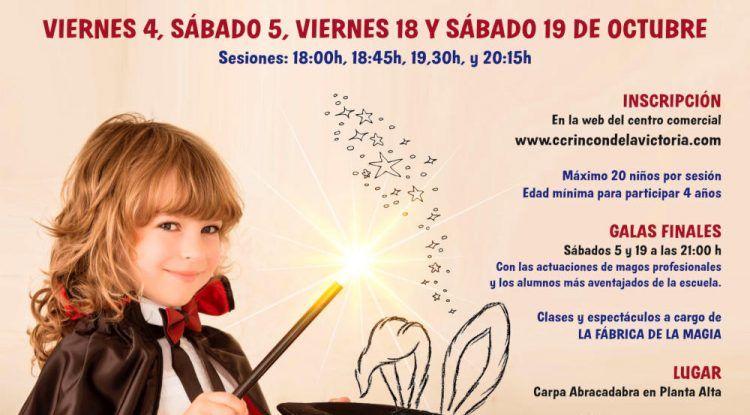 Escuela de magia gratis para niños en el CC Rincón de la Victoria en octubre