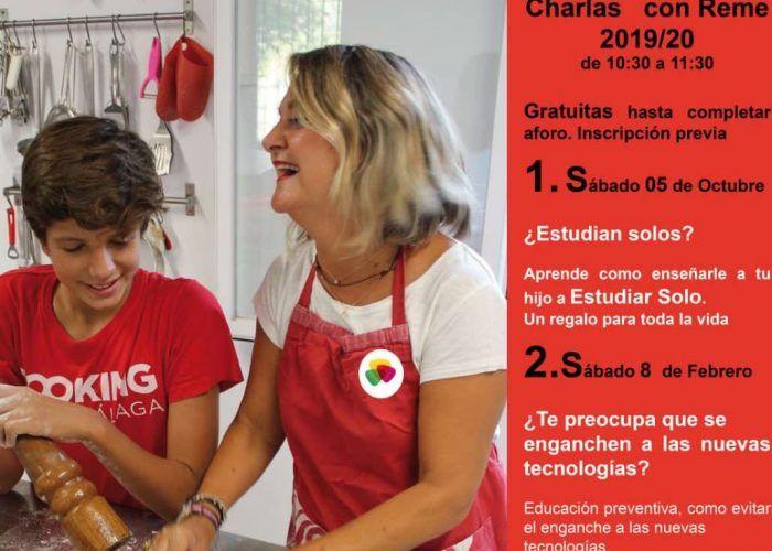 Charla gratis para madres y padres en Cooking Málaga sobre la crianza de los hijos