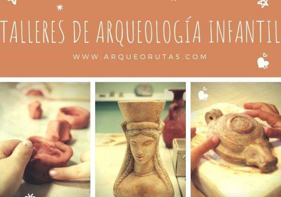 Talleres infantiles de arqueología con ArqueoRutas en Málaga
