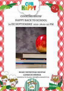 Taller de cocina infantil para preparar una divertida merienda en Club Happy Málaga