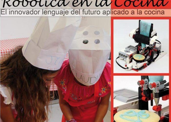 Visitas escolares con talleres de cocina y robótica para niños en Cooking Málaga