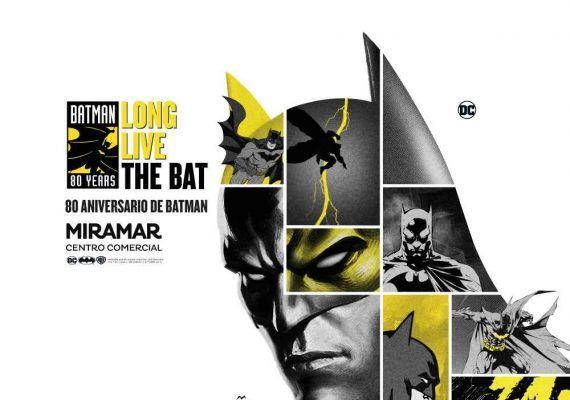 Exposición sobre Batman y su 80 aniversario en el Centro Comercial Miramar en Fuengirola