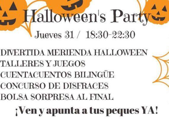 Talleres y cuentacuentos en la Fiesta de Halloween en la ludoteca La casita de Celia