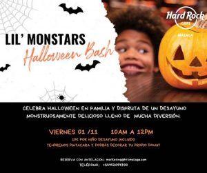 Desayuno de miedo en familia para Halloween en Hard Rock Málaga