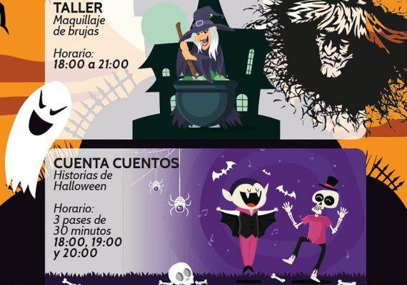 Halloween para niños con cuentacuentos y taller gratis en el CC Rosaleda de Málaga