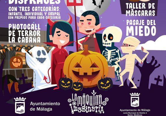 Fiesta de Halloween para niños con La Máquina Imaginaria en Miraflores (Málaga)