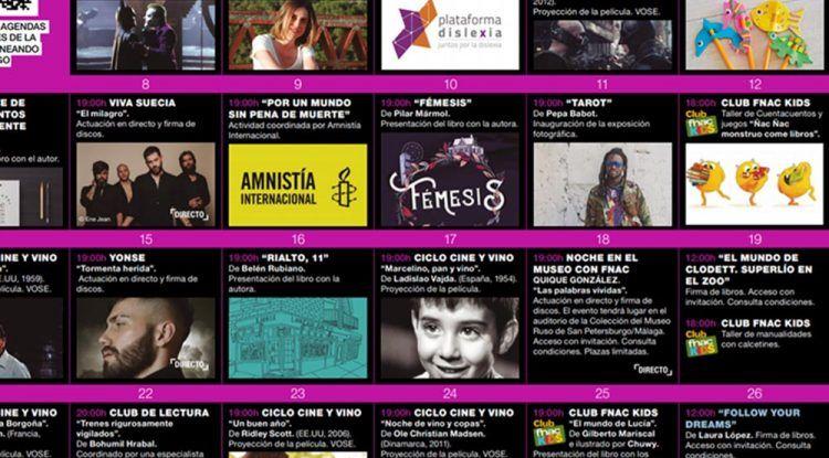 Lectura y talleres de manualidades gratis para niños con Fnac Málaga en octubre