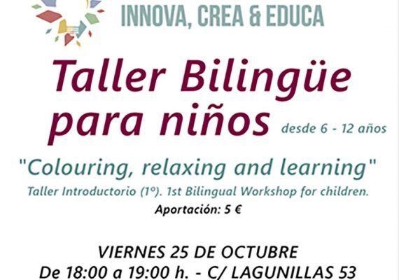 Taller bilingüe de dibujo para niños en la sala La Polivalente de Málaga