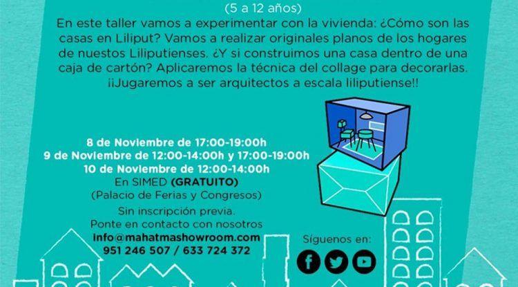 Taller gratis de arquitectura para niños en el Palacio de Ferias de Málaga