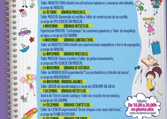 Talleres y espectáculos gratis para niños los sábados en CC Rincón de la Victoria