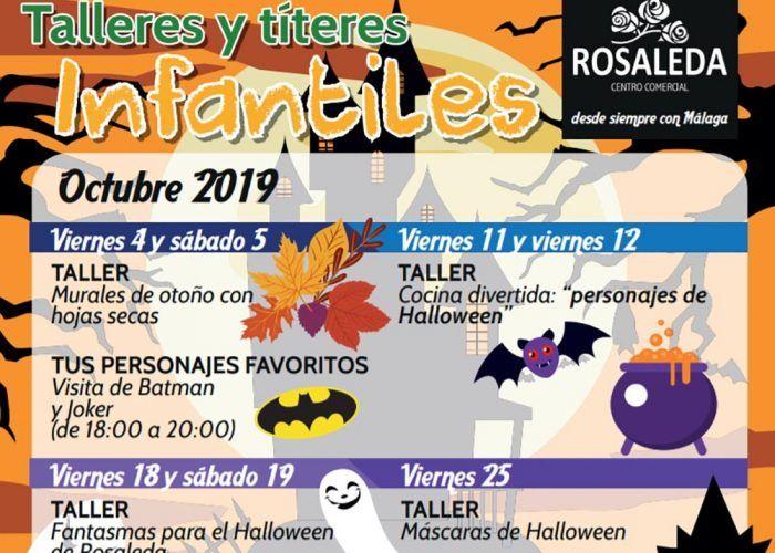 Talleres y títeres gratis para niños en el CC Rosaleda de Málaga en octubre