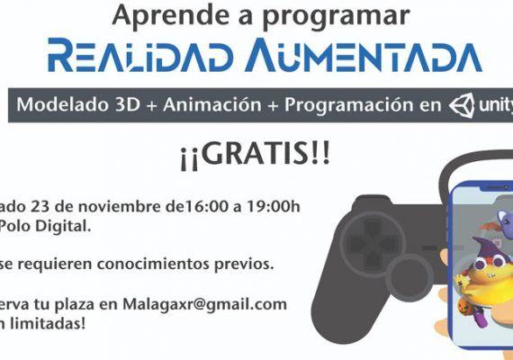 Taller gratis para adolescentes de programación y modelado 3D en Málaga para celebrar el día mundial de la Realidad Virtual