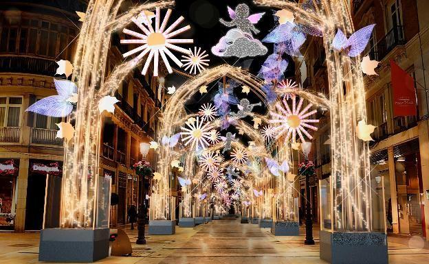 Horario alumbrado de Navidad en Málaga 2019