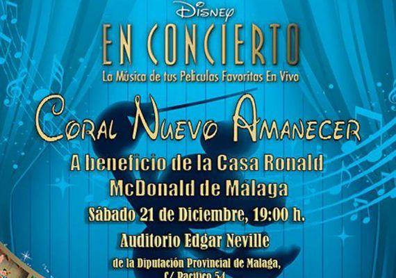 Concierto benéfico de Disney para toda la familia en el Auditorio Edgar Neville de Málaga