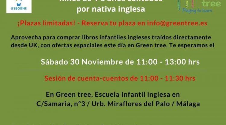 Cuentacuentos gratis en inglés para niños en Málaga