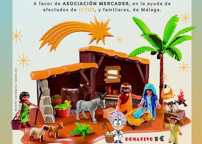 Exposición solidaria de un portal de Belén Playmobil en Málaga