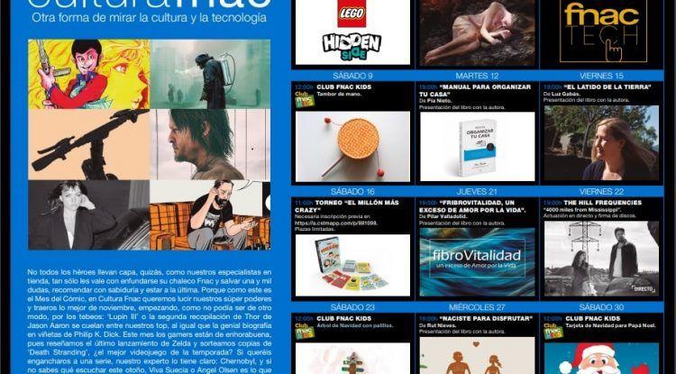 Talleres gratis para niños en Fnac Marbella en noviembre