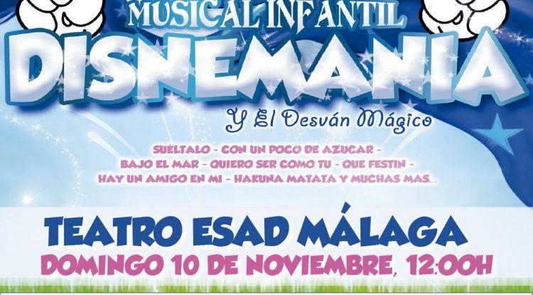 El musical infantil 'Disnemanía y el desván mágico' llega al Teatro ESAD de Málaga